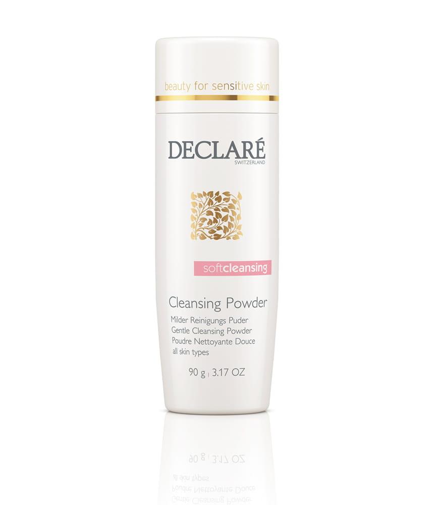 DECLARE Delikatny puder oczyszczający, 90g. Delikatny puder oczyszczający, który w kontakcie z wodą zmienia się w delikatną pianę, nie zawiera mydła, ma neutralne dla skóry pH.