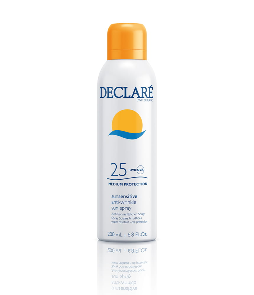 DECLARE Przeciwzmarszczkowy spray do ciała SPF 25+, Krem z ochroną UV